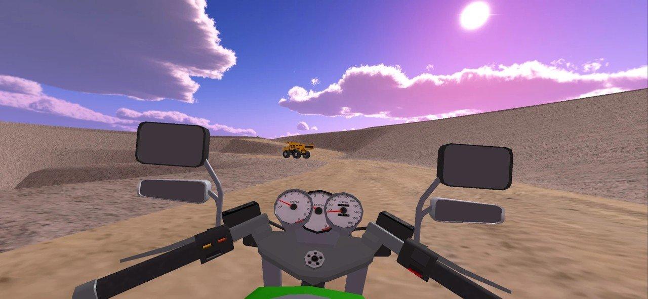 快速摩托车司机游戏截图1